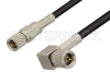 10-32 Male to 10-32 Male Right Angle Cable 60 Inch Length Using RG174 Coax -- PE36526-60 -- View Larger Image