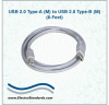 USB 2.0 Type A (M) to USB 2.0 Type B (M), 6 Feet -- 507366 -- View Larger Image