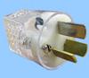 20A/250V Australian Hospital Plug; Clear -- 88040370 -Image