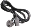 10ft UK BS1363 3-pin plug to IEC C19 Power Cord -- SF-6118-10B - Image