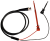 Male BNC Coaxial Test Cable RG58C/U to XL1 and X100W Mini-Hooks -- 1020XL1 -- View Larger Image