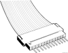 Flex Cable and Board Connectors, 2.54 mm (0.100 in.), Clincher™, Applied to=Flat Conductor, Flat Cable -- 66226-042
