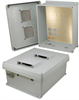 14x12x6 Inch Vented Weatherproof NEMA Enclosure with Mounting Plate -- NBC141206-00V -Image
