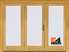 400 Series Frenchwood® 3-Panel Hinged Patio
