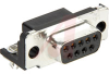 CONNECTOR, RECEPTACLE, BOARD MOUNT, HD-20, 9 POS, RIGHT ANGLE, 318 (FM,BL) -- 70085502