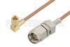 SMA Male to SSMC Plug Right Angle Cable 6 Inch Length Using RG178 Coax -- PE3C4463-6 -Image