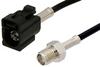 SMA Female to Black FAKRA Jack Cable 48 Inch Length Using RG174 Coax -- PE39350A-48 -Image