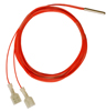 500 Series immersion temperature probe, NTC, 10,000 Ohm, ±0,1 °C [0.18 °F] tolerance, 0 °C to 25 °C [32 °F to 77 °F] accuracy, stainless steel, bullet housing, flying le -- 590-59BC21-103