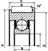 Chain Pulleys (Single Row Deep Groove Ball Bearings) -- CL307K-2RS