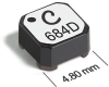 LPD5030 Series Shielded Coupled Power Inductors -- LPD5030-332 -Image