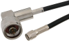 SMA Male to N Male Right Angle Cable 24 Inch Length Using RG58 Coax -- PE3076-24 -Image