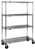 Wire Shelving Stem Caster Carts -- CC2436C-S