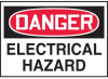 Danger Electrical Hazard Warning Label -- SGN441