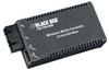 MultiPower Miniature Media Converters, 10-/100-/1000-Mbps Copper to 1000-Mbps Duplex Fiber Autosensing, Multimode 850-nm, 300 m, SC -- LGC120A-R2