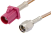 SMA Male to Violet FAKRA Plug Cable 60 Inch Length Using RG316 Coax -- PE39343H-60 -Image