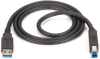 USB 3.0 Cable Type A Male to Type B Male Black 10-ft. -- USB30-0010-MM -- View Larger Image