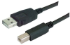 LSZH USB Cable Assembly, Latching A / Standard B 0.75m -- MUS2A00018-075M -Image