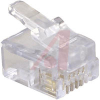connector,modular plug,rj11(6p4c),cat5,solid/stranded cond,flat unshielded cable -- 70081229