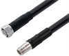 Low Loss 4.3-10 Male to N Female Cable Assembly using LMR-600-DB Coax, 3 FT with Times Microwave Components -- LCCA30352-FT3 -Image