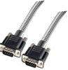 Metal Armored DB9 Cable, Male/Male, 10 ft -- DSA00011-10F - Image