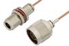 N Male to N Female Bulkhead Cable 24 Inch Length Using RG178 Coax, RoHS -- PE34201LF-24 -Image