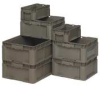 Stacker Wall Container,24L x 15W,Gray -- 9WEX5
