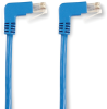 15FT Blue CAT6 250MHz Angle Patch Cable S/FTP CM Down-Down -- EVNSL216S-0015-90DD - Image