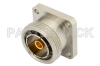 7/16 DIN Female Connector Threaded Pin Attachment 4 Hole Flange Mount Pin Terminal, .975 inch Hole Spacing -- PE4574