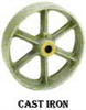 CI Series Cast Iron Wheels -- ci-1025-rb - Image