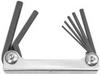 BONDHUS 7 Piece Hex Tip Metal Metric Fold Up Tool -- Model# 14592
