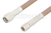 SMA Male to SMC Plug Cable 48 Inch Length Using RG400 Coax, RoHS -- PE34454LF-48 -Image