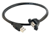 Cables to Go Panel Mount Cable - USB cable - 4 pin USB Type -- 28063