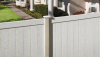 Vinyl Fence - Privacy -- Chesterfield with CertaStucco™ Texture