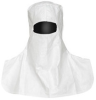 Dupont Safespec IC666B Sterile White Medium Tyvek Cleanroom Hood - Eyes Only Face Opening - ISO Class 4 Rating - Snaps on Back Fitting - IC666BWHMD0100CS -- IC666BWHMD0100CS