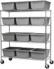 Shelving, Mobile Wire Shelving Kit, 12 Tubs -- AWS2460M34240 - Image