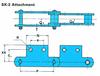 RF Conveyor Chain Basic Metric Series - SK-2 Attachment -- RF03075 - SK-2 - Image