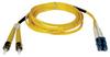 Duplex Singlemode 8.3/125 Fiber Patch Cable (LC/ST), 15M (50-ft.) -- N368-15M