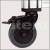 Castor D125 swivel with double-brake -- 0.0.418.10