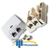 Leviton Duplex Surface Mount with 2 - 8 Conductor T568B.. -- 41088-IDB