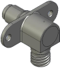 Honeywell Harsh Application Aerospace Proximity Sensor, HAPS Series, Right angle cylindrical flanged form factor, 2,50 mm/3,50 range, 3-wire open collector output normally closed, D38999/25YA98PN term -- 1PRFD3BANN-000 -- View Larger Image