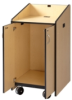 Mobile Lectern - Podium, Flat Top Surface -- LE3050-(Color)