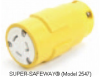 Locking Connector Yellow 20A 125V 2P -- 78678870511-1