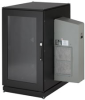 ClimateCab NEMA 12 Server Cabinet with M6 Rails and 8000-BTU AC Unit - 24U, 51