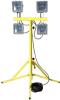 Work Area Flood Light - Tripod Mount - 4 of 500 Watt Quartz Lights - 25' Cord -- WAL-QP-4X500-25