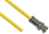 TRB Plug 3-Slot Male to Blunt end 50 Ohm Triaxial cable Yellow jacket .245 O.D.; 12-inch Triaxial Cable Assembly -- MP-2604-12