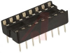 Socket, DIP;16Pins;Dual Leaf;Open;Solder Tail;0.31In.;Beryllium Copper;Gold (15) -- 70042874 - Image