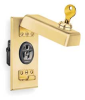 Cover,Key Locked Plug,Brass -- 4D095 - Image