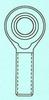 Steel Pro-Line Rod Ends -- PROL-6M-G