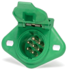 Cole Hersee 12080-11 ABS 7-Pole Tractor-Trailer Socket Connector, Green -- 37650 -Image
