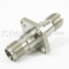 2.92mm Female (Jack) to 2.92mm Female (Jack) 4 Hole Flange Adapter, Passivated Stainless Steel Body, 1.3 VSWR -- SM3227 - Image